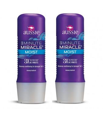 Aussie Moist 3 Minute Miracle Deeeeep Conditioner - 2 Count (8.0 fl oz each)