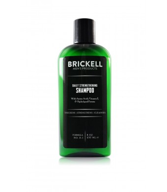Brickell Men's Products Daily Strengthening Shampoo, 8 Ounce
