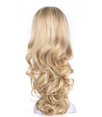 """OneDor 23"""" Curly 3/4 Ladies Half Wig Kanekalon Hair Synthetic Wigs with Comb on a Mesh Head Cap (R1488H)"""