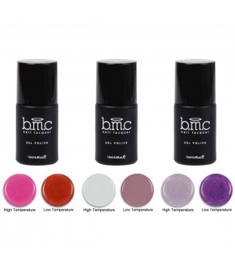 b.m.c BMC Thermal Color Changing Nail Lacquer Gel Polish - Sedona Collection, Master Set