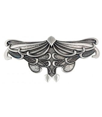 Hair Clip | Barrette | Art Nouveau Leaf | Handmade in the USA by Oberon Design