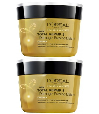 L'Oreal Paris L'Oreal Total Repair 5 Damage Erasing Balm 8.5 Ounces (Pack of 2)