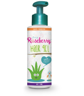 Little Roseberry Hair Gel for Kids | Made with Organic Aloe Vera and Witch Hazel for a Light Hold | Natural Vitamin