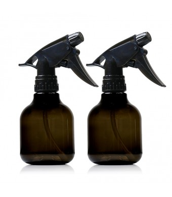ChefLand 8 Oz Empty Plastic Spray Bottle - Pack of 2 - Smoke Colored - Professional Quality