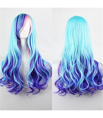"""TLTSHOPS TLT 29.5""""Upgrade Version Wig Gradient Long Curly Hair Women and Girl Daily Cosplay Party Costume"""