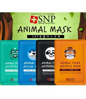 SNP Cosmetic SNP Animals Character Printed Mask (4 Types X2)