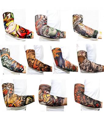 BodyJ4You 10PC Temporary Body Art Tattoo Sleeves
