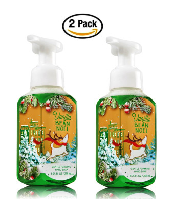 Bath & Body Works Bath and Body Works Vanilla Bean Noel Hand Soap - Pack of 2 Vanilla Bean Noel Gentle Foaming Holid