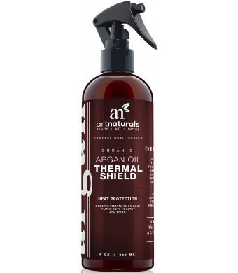 ArtNaturals Art Naturals Thermal Hair Protector 8.0 Oz - Best Protective Spray against Flat Iron Heat - Contai