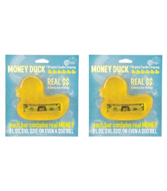 WoodWick (Set of 2) Duck Money Soap - Find REAL CASH in Every Delightfully Scented Bar ...
