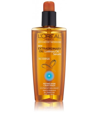 L'Oreal Paris Hair Care Advanced Extraordinary Lustrous Oil Serum Leave in Treatment, 3.4 Fluid Ounce