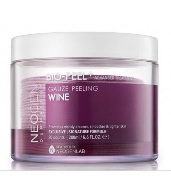 NEOGEN DERMALOGY BIO - Peel Gauze Peeling Wine 30 Count, 200ml