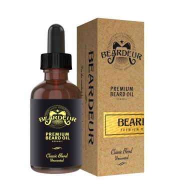 Beardeur Handcrafted Premium Beard Oil for Men, Best Beard Moisterizer, Conditioner, Softener, Beard Growth