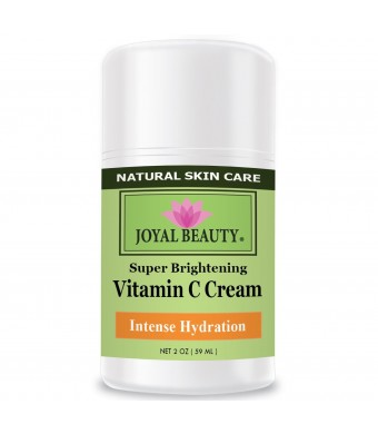 Best Vitamin C Cream by Joyal Beauty-Rich in Vitamins C, E, A, B5. Herbal Skin Healer for Dry Patch, Wrinkles, Acne, Eczema. Best Intense Hydration Moisturizer to Nourish and Soften Your Skin.