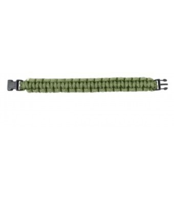 "Rothco Survival Paracord Bracelet w/ Buckle (7"", Olive Drab)"
