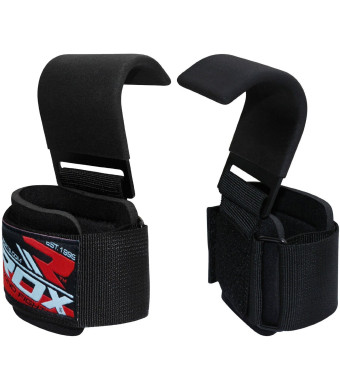 RDX Weight Lifting Gym Hook Strap Crossfit Wraps Hand Bar Bodybuilding Training Workout