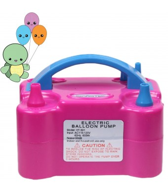 Signstek 110V 600W Portable Dual Nozzle Electric Balloon Blower Air Pump Inflator Pumper with Balloons