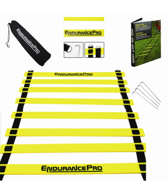 EndurancePro Endurance Pro Agility Ladder For Best Speed and Agility Training Includes Ladder Drills EBook and