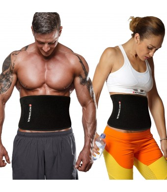 Reformer Athletics Waist Trimmer Ab Belt for Faster Weight Loss. Includes FREE Fully Adjustable Impact Resistant Smar