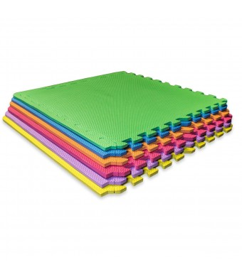 Sivan Health and Fitness Puzzle Exercise Mat Colorful High Quality EVA Foam Interlocking Tiles