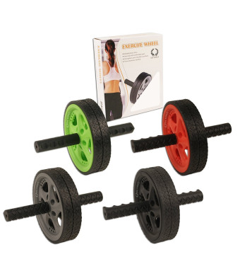 Da Vinci Dual Wheel Ab Roller - Best Abdominal Rollout Exercise Equipment with Anti Slip Foam Grips and Double Wheels