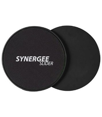 iheartsynergee Synergee Black Gliding Discs Core Sliders. Dual Sided Use on Carpet or Hardwood Floors. Abdominal