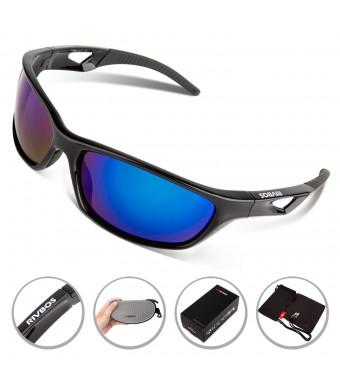 RIVBOS Polarized Sports Sunglasses Driving Sun Glasses for Men Women Tr 90 Unbreakable Frame for Cycling Baseball Running Rb831