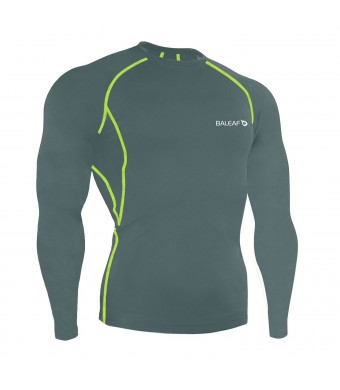Baleaf Men's Cool Fitness Running Long Sleeve Compression Shirt
