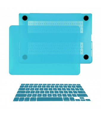 TOP CASE TopCase 2-in-1 Macbook Pro 15-Inch A1398 with Retina Display AQUA BLUE Rubberized Hard Case Cover