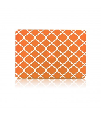 TOP CASE TopCase Quatrefoil / Moroccan Trellis Orange Ultra Slim Light Weight Rubberized Hard Case Cover fo