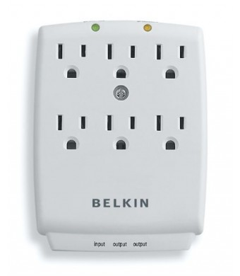 Original Equipment Manufacture Belkin 6-Outlet SurgeMaster Wall-Mount Surge Protector, F9H620-CW