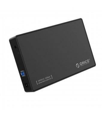 """ORICO Toolfree USB 3.0 to SATA External Hard Disk Drive Enclosure Case for 3.5"""" SATA HDD and SSD[Support UASP and 8TB Drives]"""