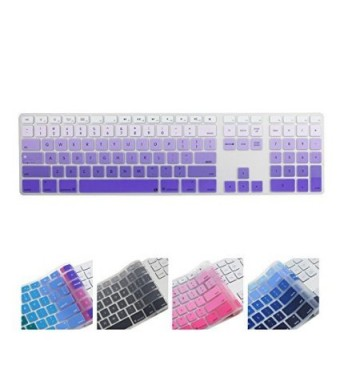 All-inside Ombre Purple Keyboard Cover for iMac Wired USB Keyboard