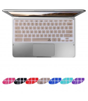 "FORITO Gold Silicone Keyboard Cover for Samsung ARM 11.6"" Chromebook 3 XE303C12 (US Layout) (Does Not Fit for Samsung Chromebook 2) - Chromebook Accessories Cover Skin"