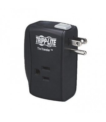 Tripp Lite 2 Outlet Portable Surge Protector, Wall Mount Direct Plug-in, Tel/Modem, and $50K INSURANCE (TRAVELER)