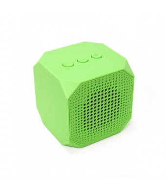 MQbix MQBK3010GRN MUSICUBE Wireless Portable Bluetooth Speaker with Built-In Mic for Bluetooth Enabled Devices (Green)
