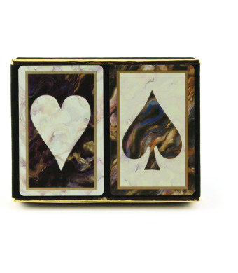 Congress Black Marble Jumbo Index Playing Cards