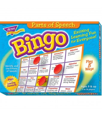 Trend Enterprises Inc Parts of Speech Bingo Game