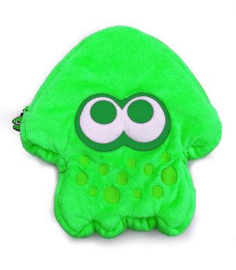 Splatoon 2 Squid Stuffed Pouch for Nintendo Switch - Green
