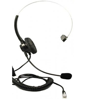 Headset Headphones + Adjustable Volume + Mute Control for Cisco Ip Telephone 7931 7940 7960 7970 7962 7975 7961 7971 7960 M12 M22 and All Series