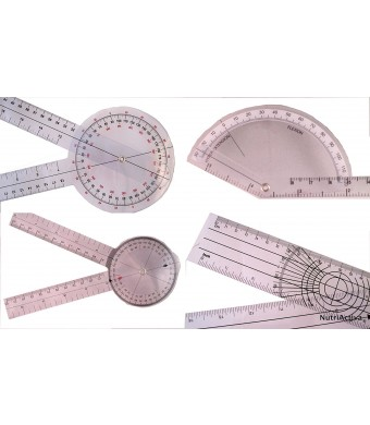 "AnthroFlex Goniometer Set of 4: 12"" , 8"" , Finger, Spinal"