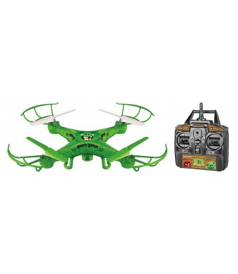 World Tech Toys Angry Birds Licensed Squak Copter THE PIGS Camera Drone 2.4GHz 4.5 Channel Picture/Video Camera RC Quadcopter, Green, 22 x 4 x 14.5