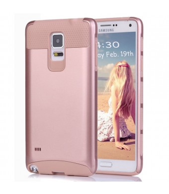Note 4 Case,Eraglow Galaxy Note 4 Protective Case Shockproof Heavy Duty Hybrid Armor Protection Defender Case High Impact Case for Samsung Galaxy Note 4 (rose gold)