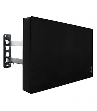 Outdoor TV Cover 40'' - 43'', New Design of Bottom Seal, Weatherproof Universal Protector for LCD, LED, Plasma Television Sets - Fit Standard Mounts and Stands. Built In Remote Controller Storage Pocket