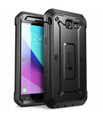 SUPCASE Galaxy J3 Emerge Case, J3 Prime/J3 Mission/J3 2017/J3 Eclipse/Sol 2/Amp Prime 2/Express Prime 2 Case, Unicorn Beetle PRO Series Full-body Rugged Case with Built-in Screen Protector (Black/Black)