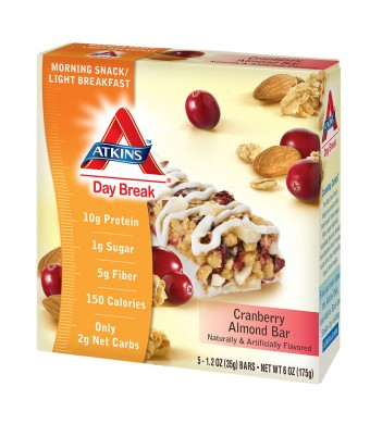 Atkins Day Break Snack Bars Cranberry Almond