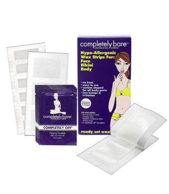 Completely Bare Hypo-Allergenic Wax Strips