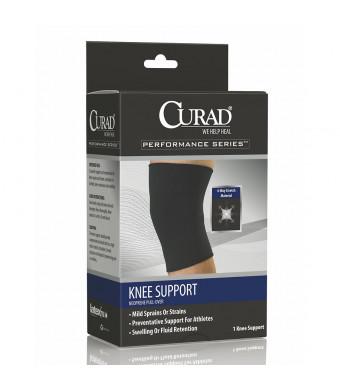 Curad Knee Support Neoprene Pull Over Large Black