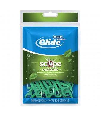 Oral B Glide Floss Picks Plus Scope Outlast - Long Lasting Mint - 75 ct
