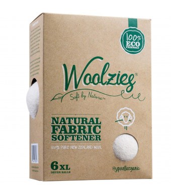 Woolzies, the Original Highest Quality Wool Dryer Balls Set of 6 Xl,Best Natural Fabric Softener, Gift Set